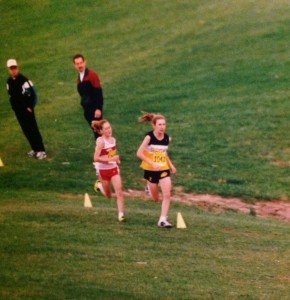 Passing Kari McCarty in the last 50m of the Maryland State Cross Championship